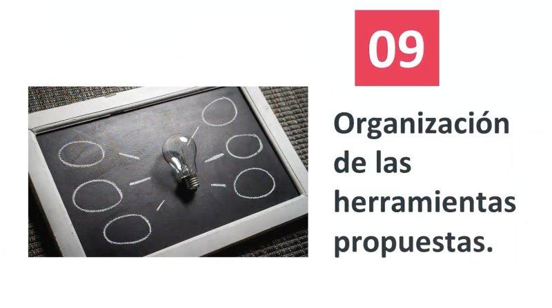 9 Organización de las técnicas propuestas
