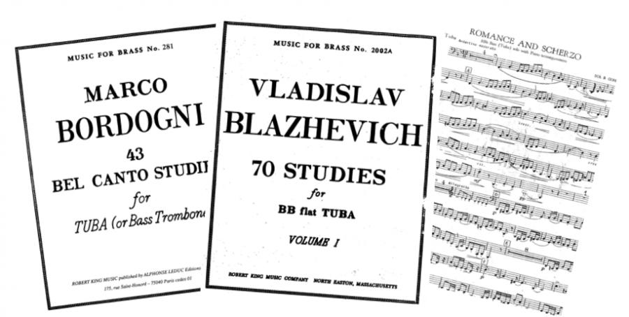 Estudios y obras para tocar con la tuba en sib
