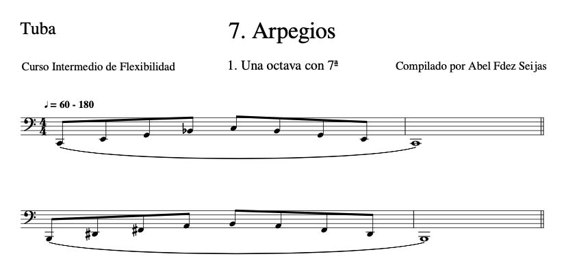 7. Arpegios