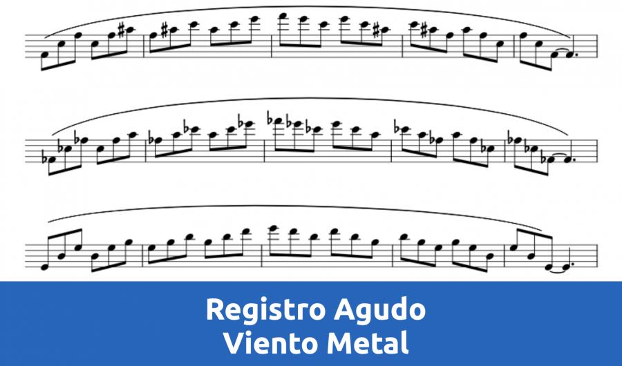 Curso de registro agudo para instrumentos de viento metal