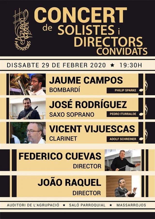 Conicerto de solistas y directores invitados en Massarrojos