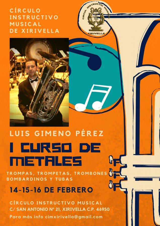 I curso de metales con Luis Gimeno en Xirivella, valencia