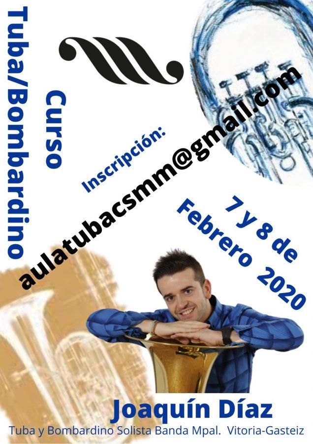Curso de tuba y bombardino en el Conservatorio Superior de Murcia con Joaquín Díaz