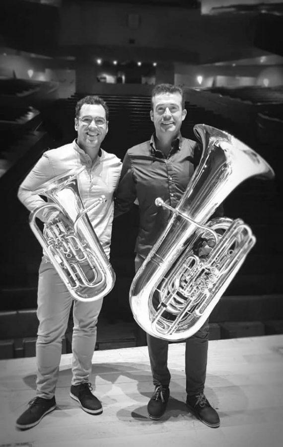David Abellan bombardino y José Miguel Rochina tuba