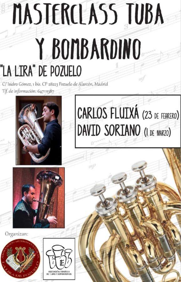 Masterclass tuba y bombardino en La Lira de Pozuelo con Carlos Fluixá al bombardino y David Soriano a la Tuba