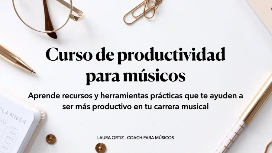 curso de productividad para músicos impartido por Laura Ortiz