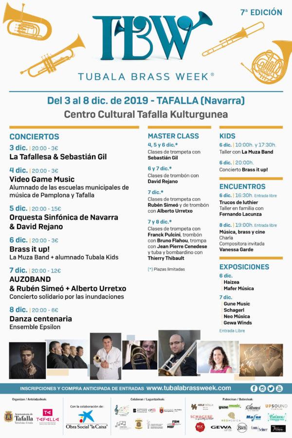Cartel VII Tubala Brass Week en Tafalla, Navarra